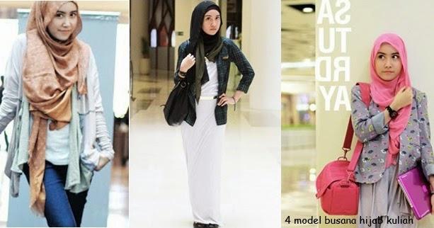 4 Model Busana Hijab Trendy Untuk Kuliah Fashion Gaya Hidup
