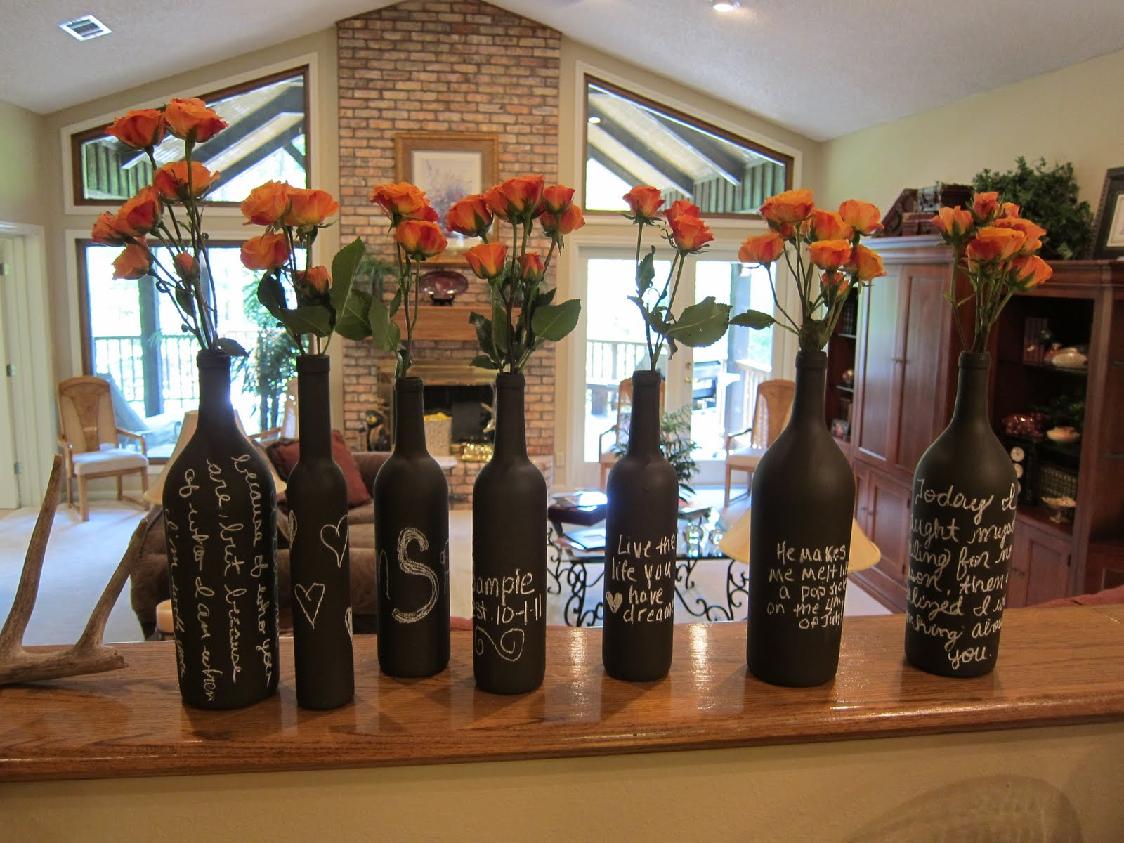 We The Gingers Wine Bottle Decor
