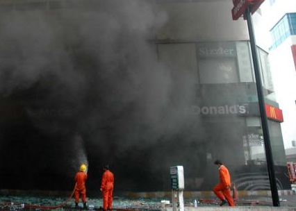 fire in Thailand's hotel