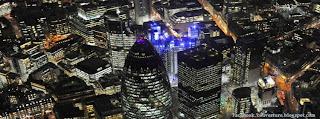 Couverture Facebook de ville de Londres nuit