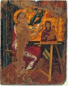 «Ο Ευαγγελιστής Λουκάς  ζωγραφίζει την Παναγία Βρεφοκρατούσα» Ελ Γκρέκο