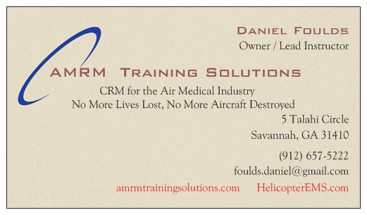 AMRM Training Solutions. Your team. Safe.