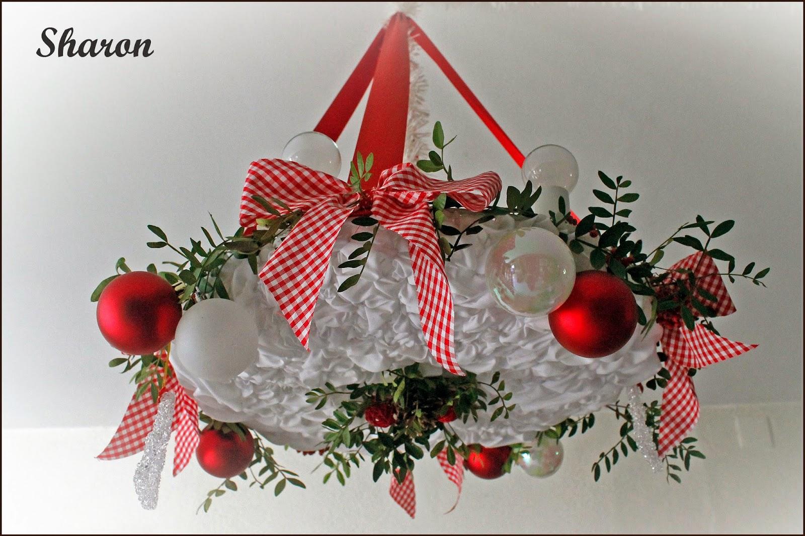 Las manualidades de Sharon Lmpara para decoracin navidea