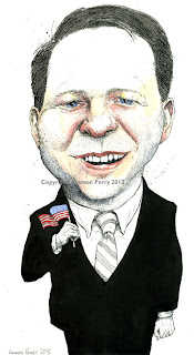 rob teplitz senate 15 pennsylvania caricature