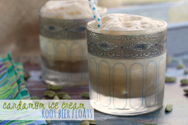 Cardamom Ice Cream Root Beer Floats | girlichef.com