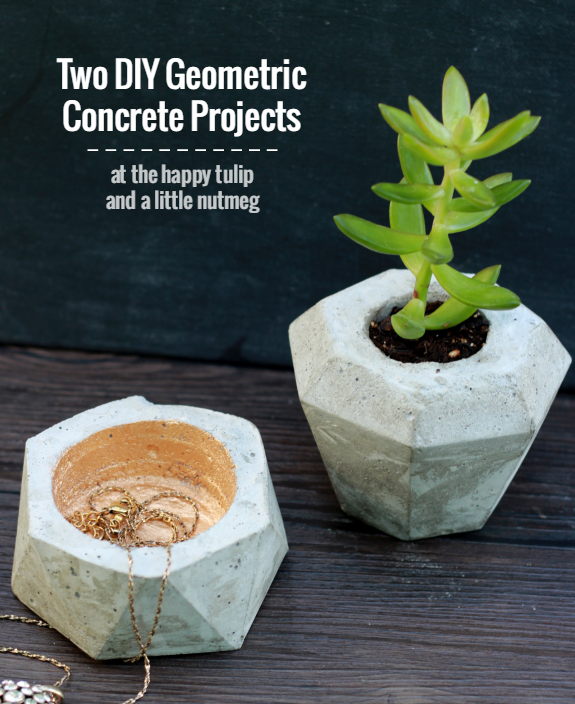 DIY Geometric Concrete Projects │ thehappytulip.com
