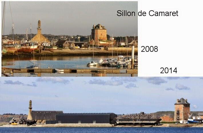 Le port de Camaret défiguré par cet hangar hideux