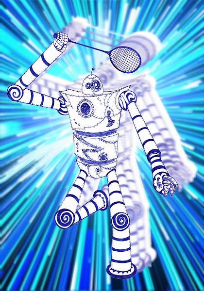 Dessins Fantastiques - Page 2 Robot+jouant+au+badminton+-+vitesse+2