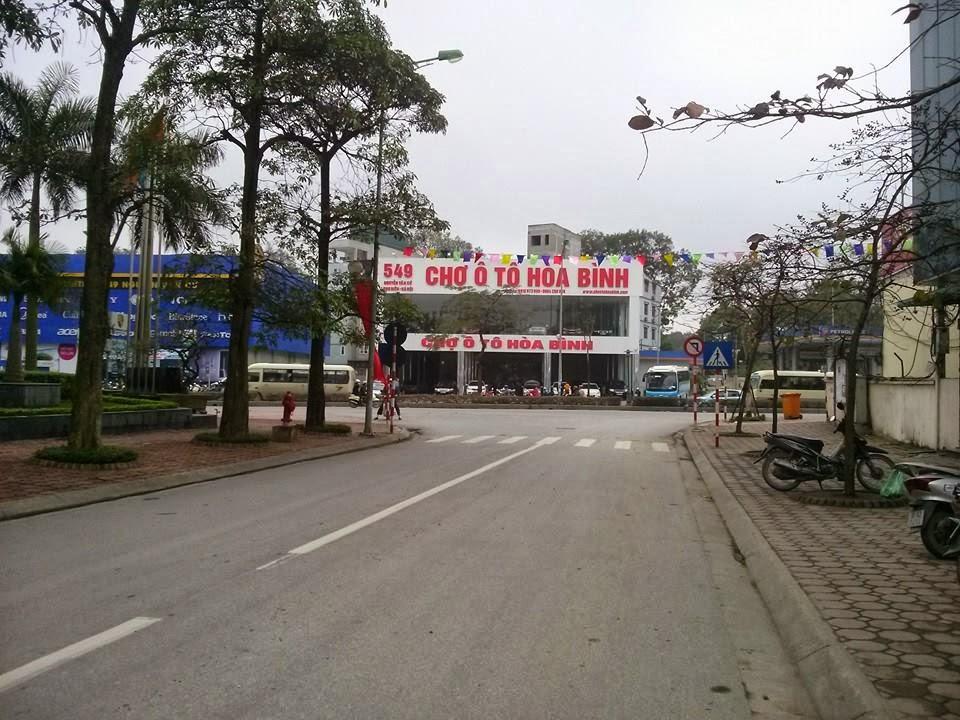 Ảnh nhìn từ trong dự án ra ngoài đường Nguyễn Văn Cừ