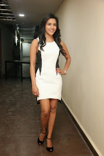 Priya Anand in lovely White Short Dress and Black High Heels