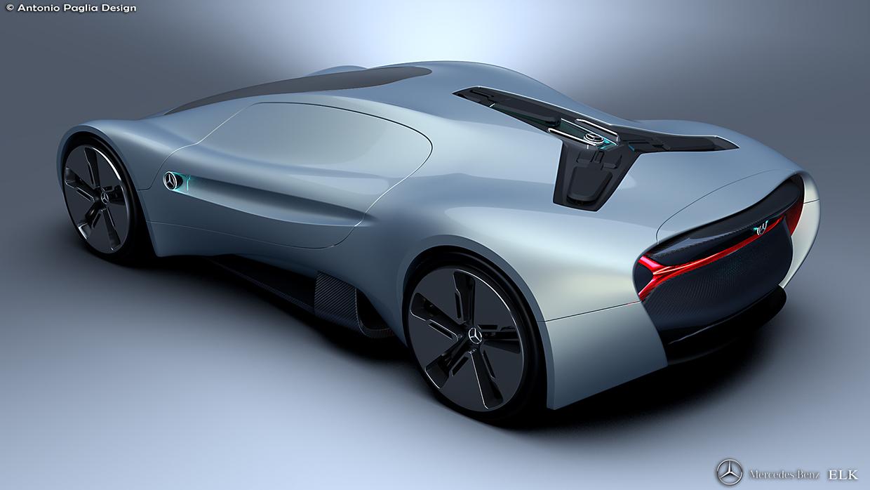 Mercedes Benz Elk Fits The Future Ev Supercar Bill Carscoops