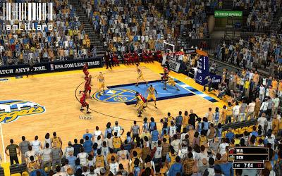 NBA 2K13 Denver Nuggets Fictional Court Patch