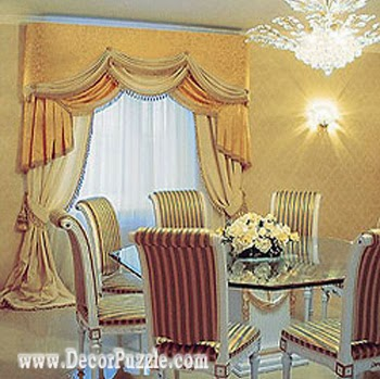 luxury classic curtains and drapes 2015, orange curtains designs for dining room