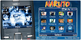 Naruto C3 theme by ZayedBaloch Download Tema Nokia C3 Gratis