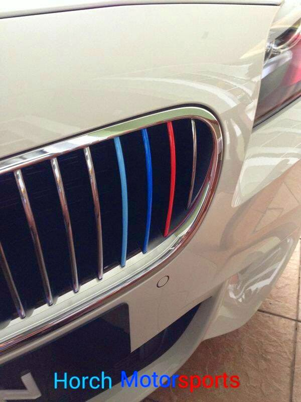 HORCH MOTORSPORTS BMW M Colored Kidney Grille Stripe Decals - Bmw m colored kidney grille stripe decals
