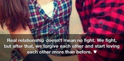 Real relationship doesn't mean no fight, We fight but after that we ...