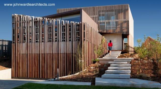 Residencia contemporánea con madera en Australia