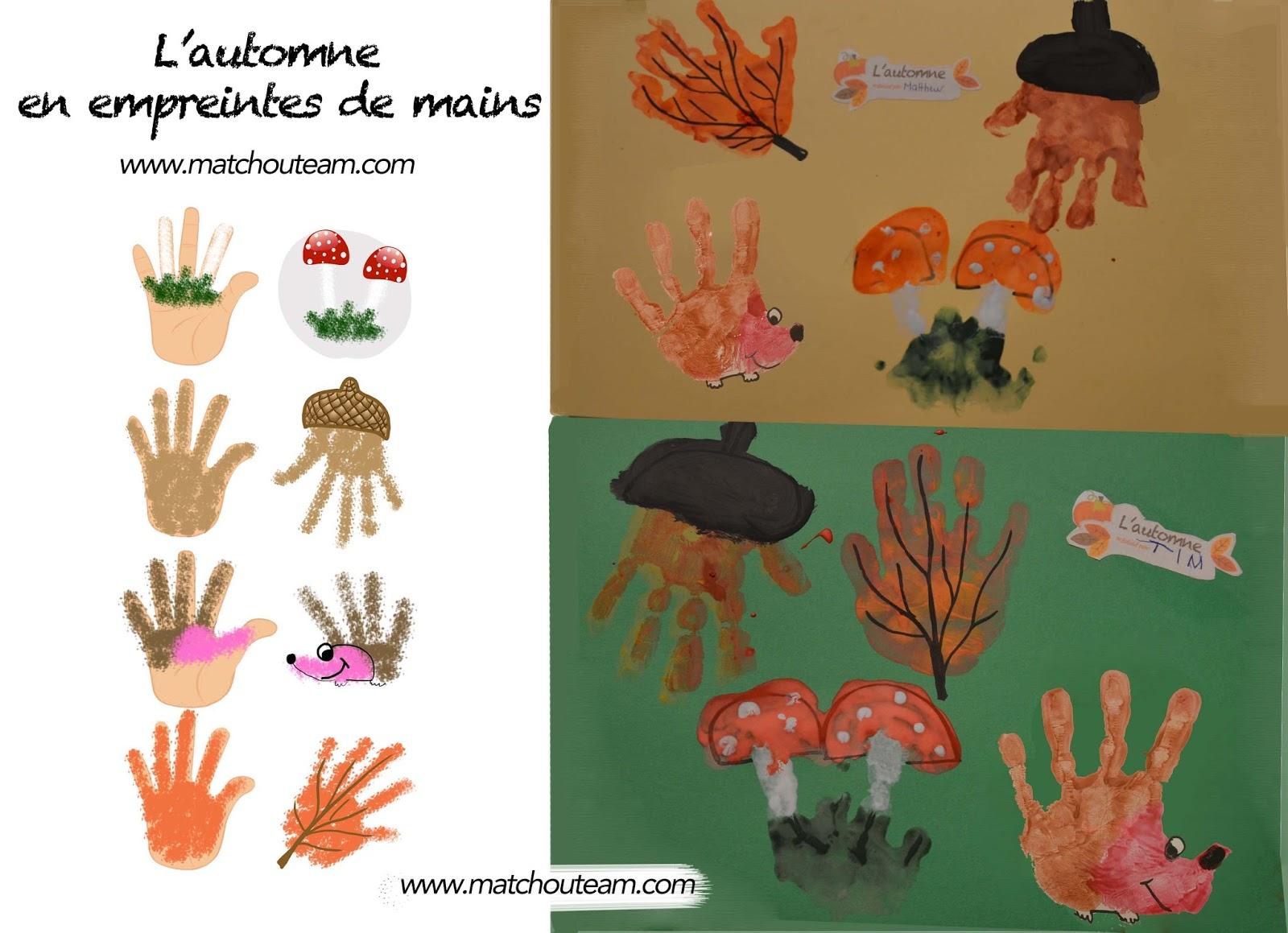 Ma Tchou Team Empreintes De Mains Pour L 39 Automne