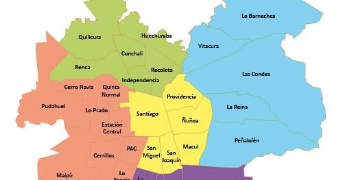 Mapas de chile mapa de santiago de chile for Calles de santiago de chile