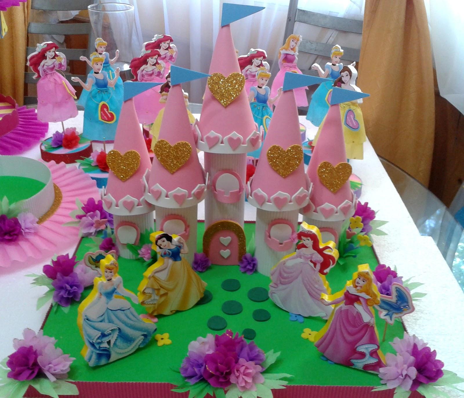 Decoraciones infantiles adorno torta princesas castillo for Decoracion de princesas