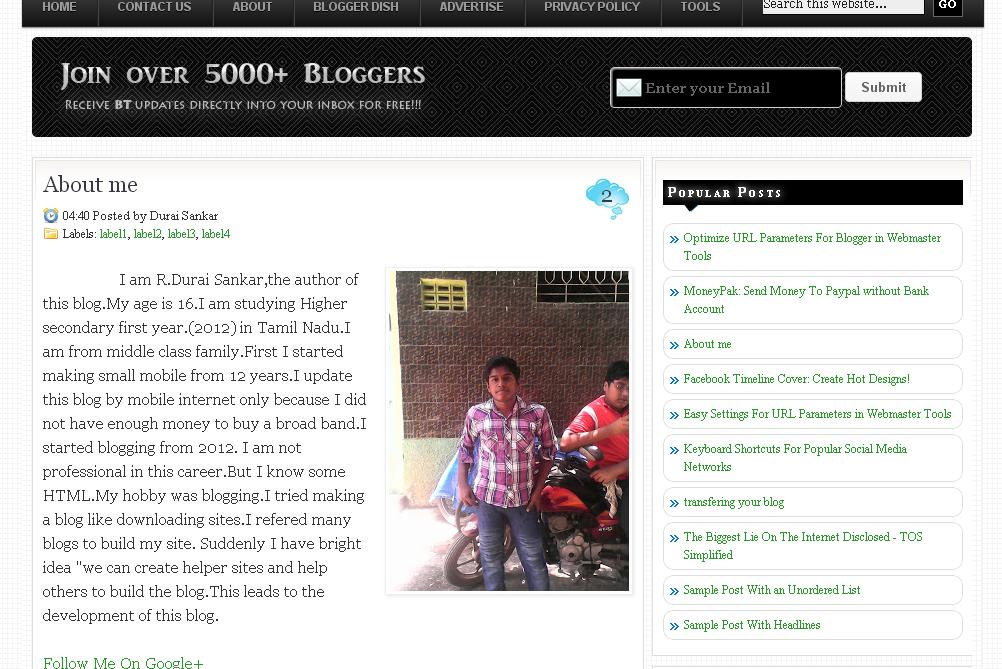 Share mẫu Blogger Template Free Chuẩn SEO