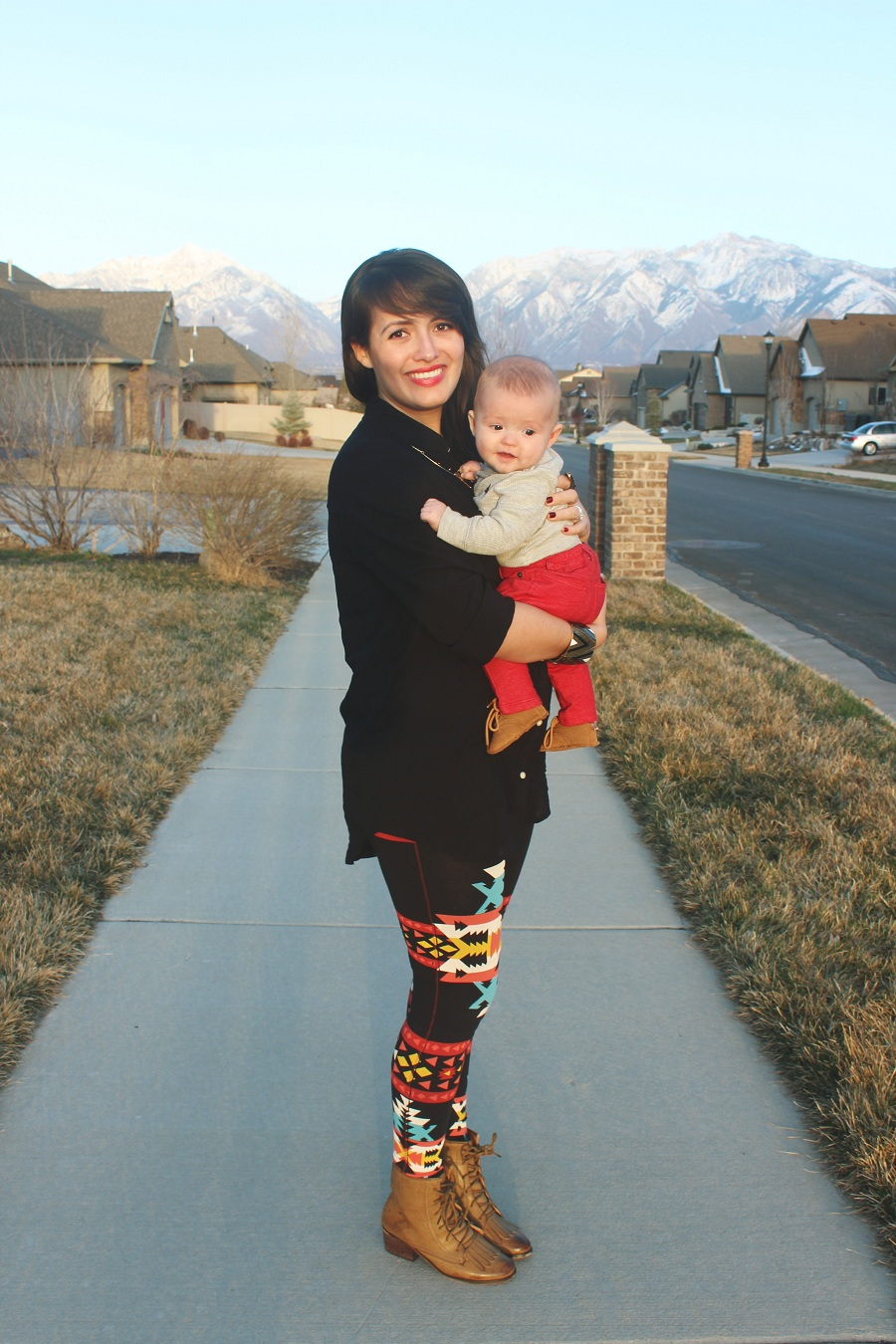Shoes what to wear with printed leggings photos