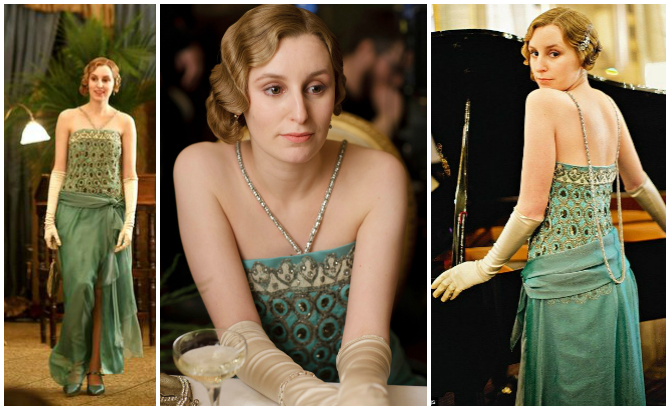 lady edith crawley di downton abbey outfit da sera