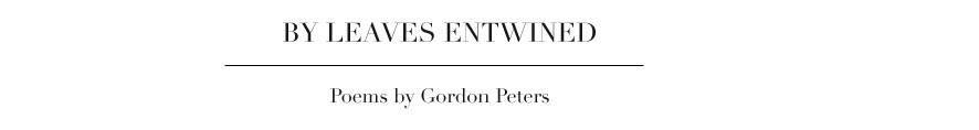 Gordon Peters Poetry