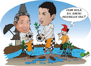 SBY dan Ronaldo Tanam Mangrove di Bali