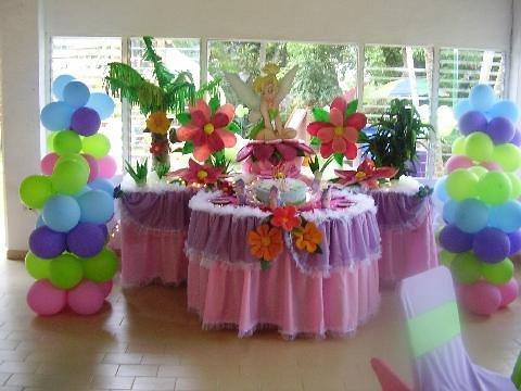 Adornos para fiestas infantiles de tinkerbell - Imagui
