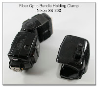 Fiber Optic Bundle Holding Clamp for Nikon SB-800