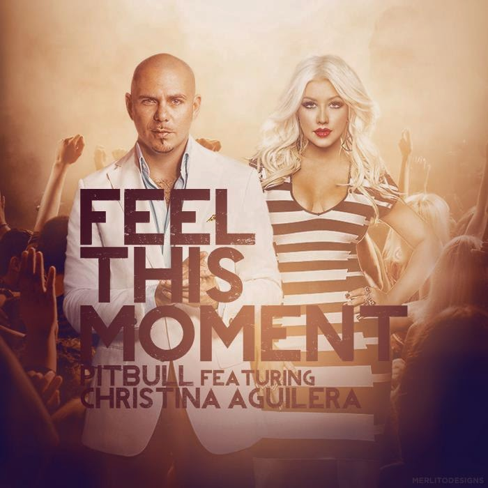 Pitbull Feel This Moment Christina Aguillera Album Cover EDM