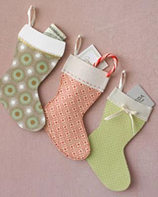 Botas de papel Manualidades de Navidad