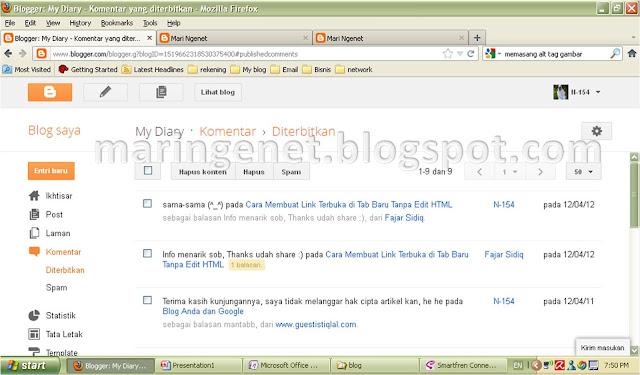 Tampilan Baru Blogger, komentar, new look blogger