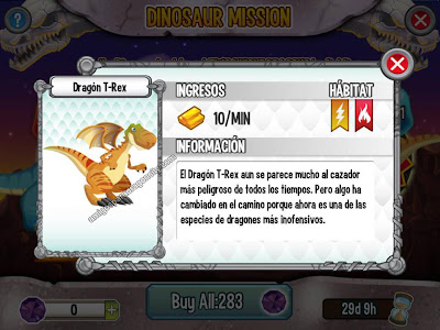imagen del dragon t-rex de dragon city ios