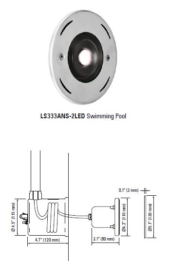 Lumascape Ls333ans 2led Swimming Pool Luminaire Lampu Kolam Underwater Lamp