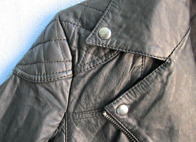 Asos Leather Biker Jacket Detail