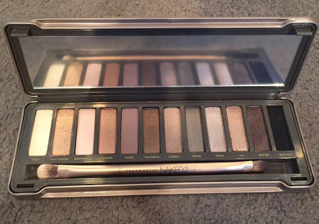 Urban Decay Naked 2 Eyeshadow Makeup Palette, eye makeup, beauty product favorites