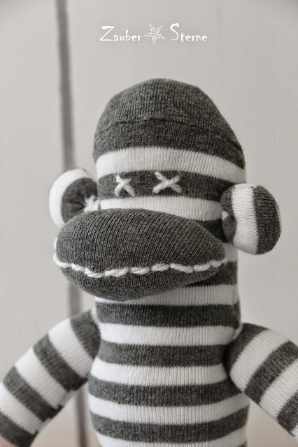 Affe aus Socke, Monkey Socks DiY