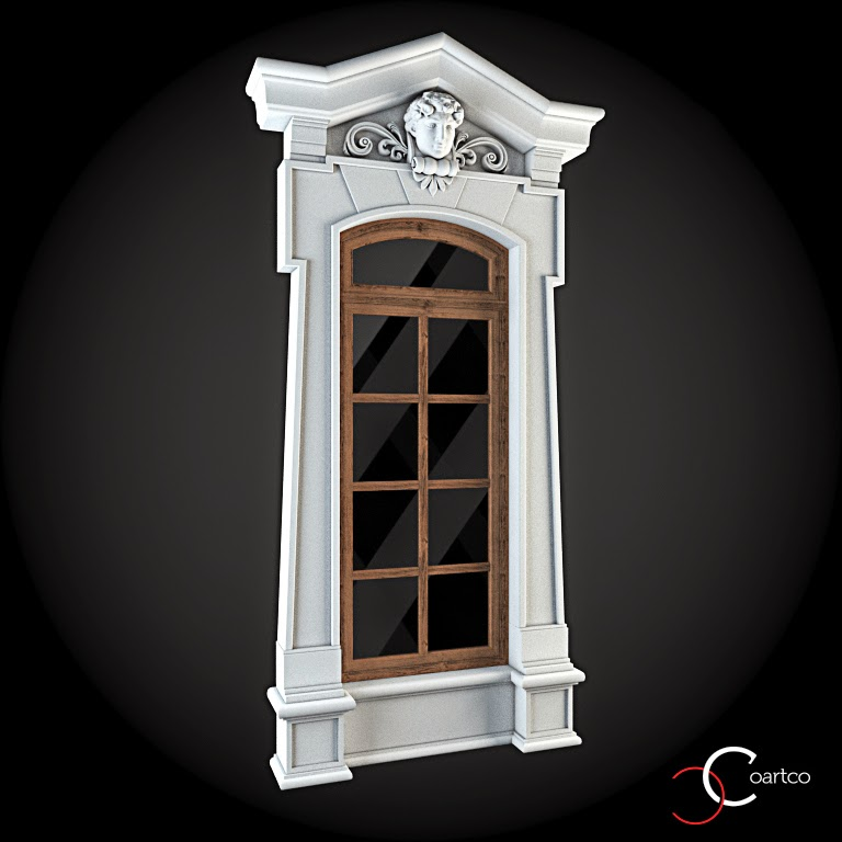 Ornamente Geamuri Exterior, fatade case cu profile decorative polistiren, profile fatada,  Model Cod: WIN-046