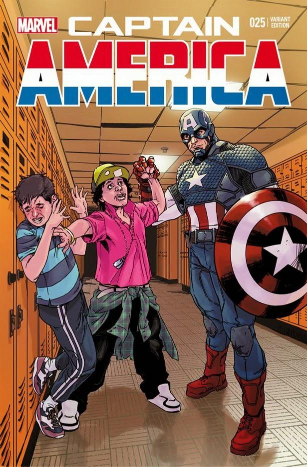 Portada Anti-bullying Captain America 25
