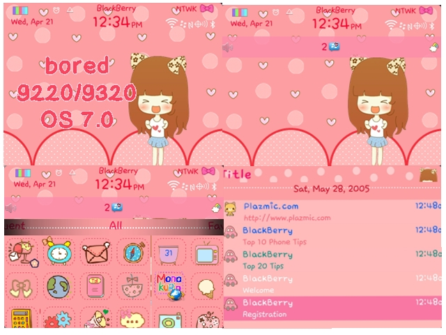 themes blackberry gemini hello kitty