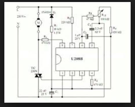 U208B - 220VAC Phase Controller Circuit