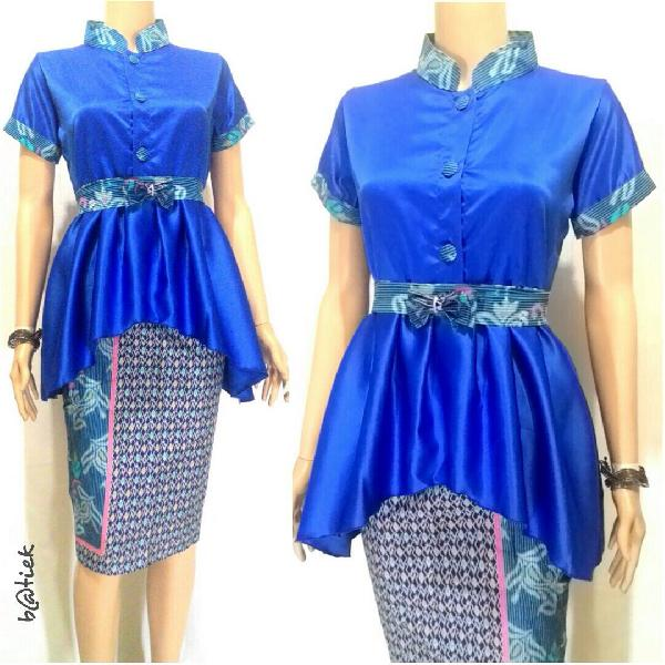10 Model Baju Batik Kebaya Modern Untuk Remaja  Pusat Batik Terbaru