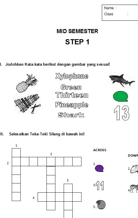 Soal Latihan Drill Bahasa Inggris Anak Anak Sd Bahasa Inggris Anak Indonesia
