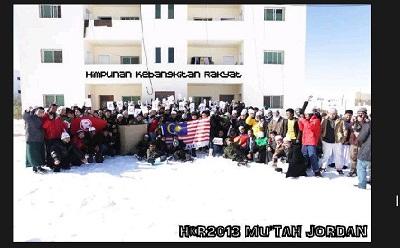 Mahasiswa Jordan berkumpul sokong Himpunan Kebangkitan Rakyat (HKR).