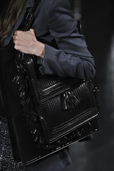 Cool black chic style bag or the cross-body bag