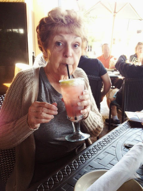 Gram and her drink