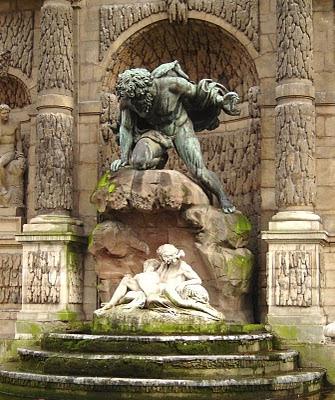 En los jardines del Palacio de Luxemburgo