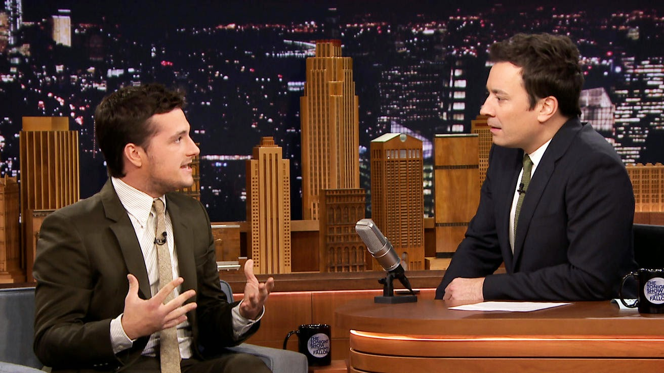 josh hutcherson jimmy fallon hunger games mockingjay part one